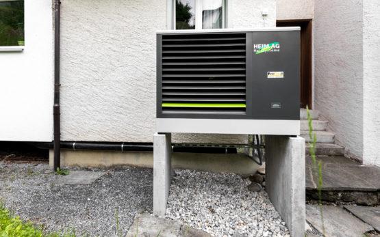 Wärmepump Einbau Aussengerät