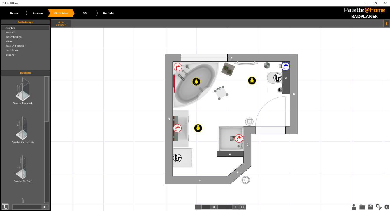 Extrem 3D Online Badplaner Hilfe - Forrerbau AG OJ31